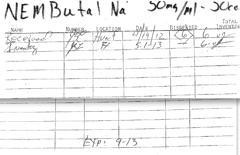 A lawyer for a death-row inmate said this  page produced by the state shows that the state's execution drug expired in September.