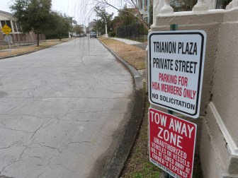 Trianon Plaza was purchased by a homeowners' association in 2006. But the association hasn't paid property taxes due to an error by the Orleans Parish Assessor's Office. That mistake will be rectified, according to a spokesman for the Assessor's Office.
