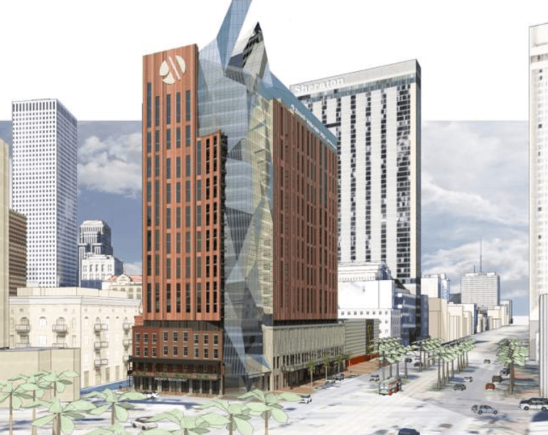 The proposed Marriott at 400 Canal Street would shatter the zoning ordinance's height limit.