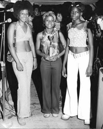 A bevy of NOPD talent show winners enjoy the limelight in the early 1970s.