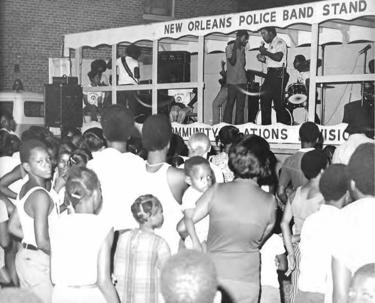 In the 1970s, the NOPD's Community Relations Department sponsored rolling talent shows that visited public housing developments.
