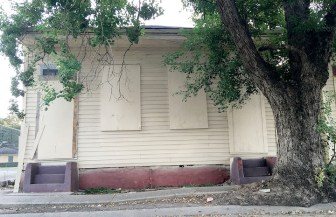Architectural detailing has been stripped off the Bolden birthplace since it was acquired by Greater St. Stephen Church and emptied of occupants.
