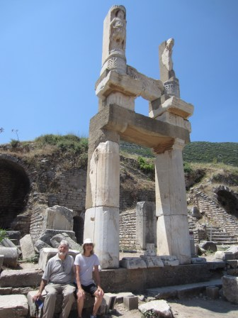 Author Arend and husband Richard Saxer included a stop at Ephesus as part of their 2012 Atlas tour of Turkey.