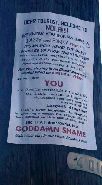 A poster in the short-term rental wars.