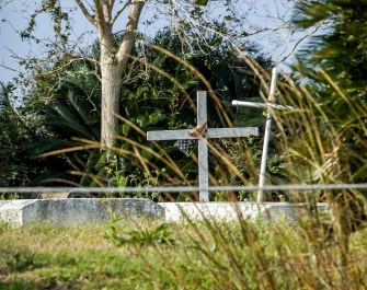Like the rest of the community, Grand Bayou's cemetery is threatened by the combination of sea-level rise, land subsidence and exclusion from the state's master plan to protect the coast