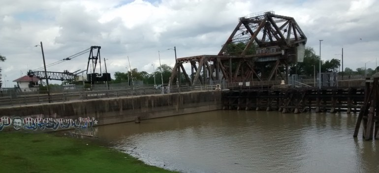 The St. Claude Avenue bridge over the Industrial Canal would be replaced by a temporary span.
