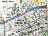 The planned streetcar line runs along Loyola Avenue from the Union Passenger Terminal to Canal Street.