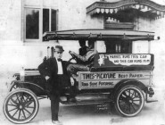 """Times-Picayune distributor Uriah """"Corky"""" Markel on the job in 1917. (Wikimedia public domain)"""