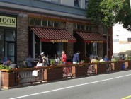"""A San Francisco parkette (a.k.a. """"parklet"""") appears to have devolved to largely commercial use by adjacent shopkeepers. photo: Mark Hogan/creative commons"""