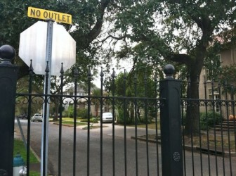 The fence has blocked through-traffic on Newcomb Boulevard  for more than six years.