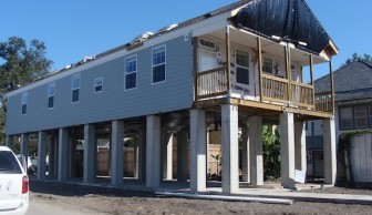 Under construction in 2007, the house did not yet have the paved front yard.