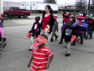 Last hurrah: Ben Mays Prep kids parade during Carnival.