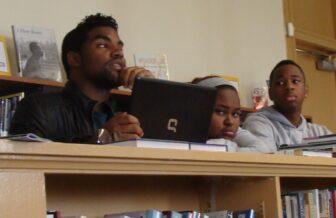 Erick Dillard, a student at John McDonogh, spoke during Tuesday's meeting of the executive board.