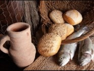 Loaves and fishes: icons of Christian generosity and concern for the hungry.
