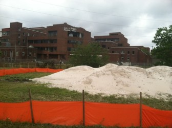 Donated sand is destined for the courts, wherever they wind up.