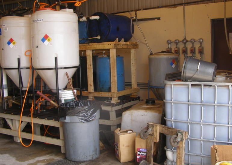 Operation REACH biodiesel project drying tanks