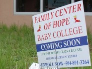 """When we visited the building in 2013, we found trash and a couple of signs advertising a """"baby college."""" The signs and trash were cleaned up, but since then the site has taken a turn for the worse."""
