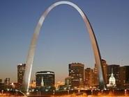 The Gateway Arch dominates the St.Louis riverfront.