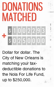 Despite this notice on the NOLA for LIfe website, the city says it has made no commitment to providing $250,000 to the program.