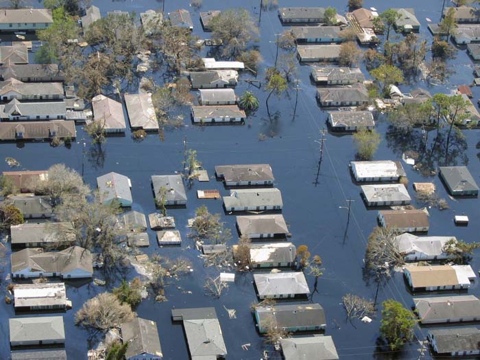 The levee failures following Katrina inundated more than half the city.