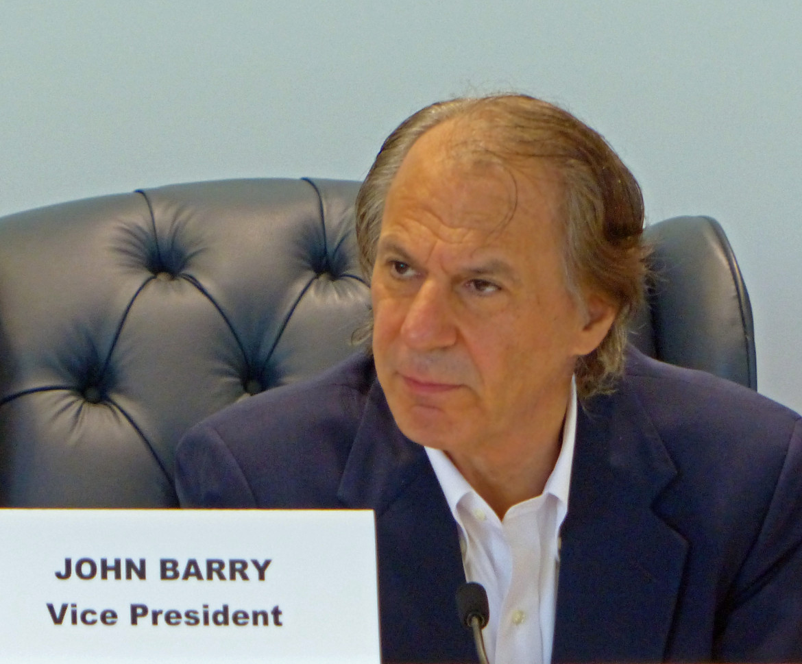 John Barry may be gone from the local levee board, but he's going to make sure he and his efforts are not forgotten.