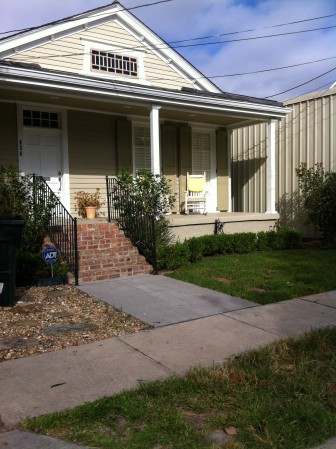 The pavers have been removed and a lawn is being revived at 826 Octavia St.