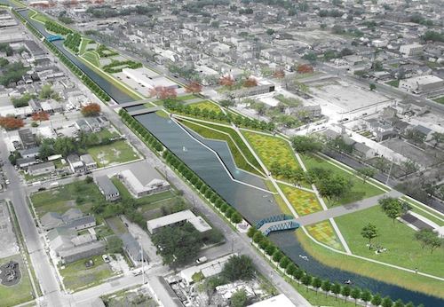 One of the demonstration projects proposed in the Urban Water Plan is to build a waterway on the Lafitte corridor, a greenway stretching from City Park to the French Quarter.