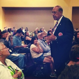 Retired Lt. Gen. Russel Honore, shown here at the Rising Tide event,  developed a battle plan for bringing Big Oil to heel.