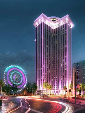 Gatehouse Capital is planning to convert the former office tower into a W hotel with apartments above. Gatehouse's original plan included a giant ferris wheel as a riverfront attraction, but it has faced public opposition and seems unlikely to be included.