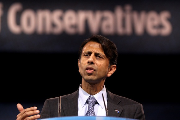 His eyes fixed on the White House, Gov. Jindal addressed conservatives at a gathering last year in Maryland.
