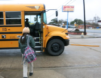 Faith Summers, an 11-year-old student at Martin Behrman Charter School, must cross four lanes of traffic on General Meyer Avenue in Algiers to get to her bus stop.
