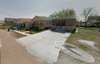 This Google map image shows the vast amount of pavement covering a S. Miro Street property. The neighbor to the left has to truck in dirt to maintain his front lawn.