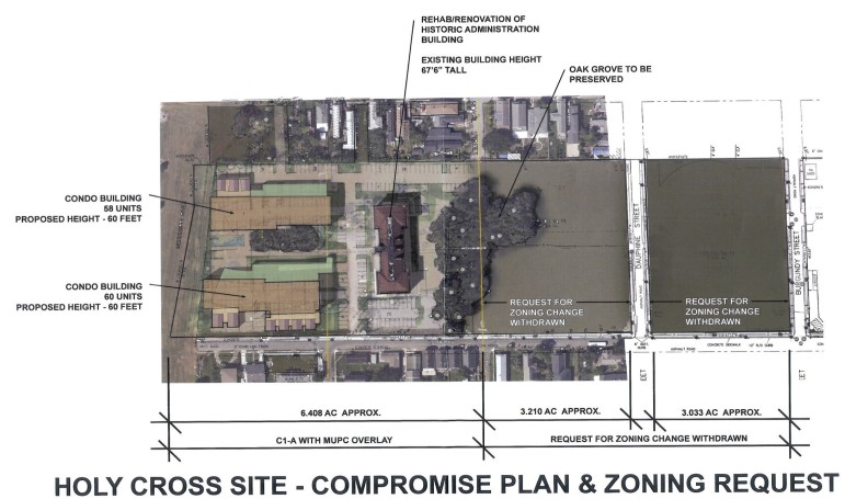 Perez, APC has revised its rezoning request for a proposed riverfront development in the Holy Cross neighborhood.