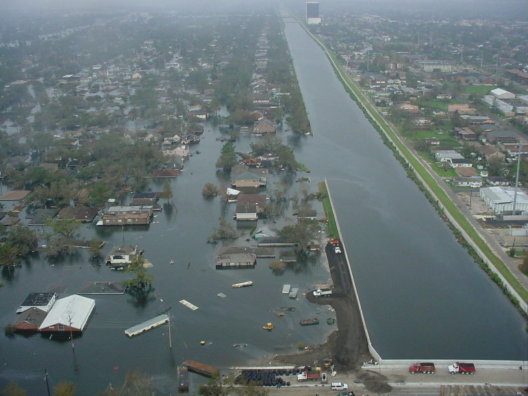"During Hurricane Katrina, the floodwall and levee on the 17th Street Canal collapsed without being overtopped. It was one of about 50 breaches in the flood protection system that was supposed to repel ""the most severe storm"" that could be expected in the area."
