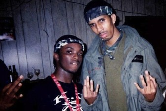 Phipps (right) in Club Mercedes the night of the shooting. Phipps was at the club that night to promote an open-mic event.