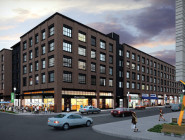 A rendering shows a portion of the South Market District development in the Central Business District.