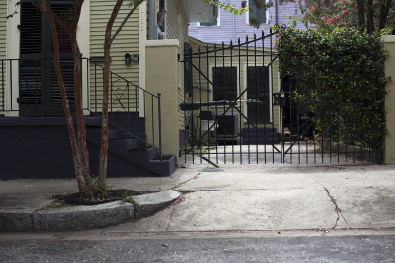 Merritt Landry shot Marshall Coulter from 30 feet away, inside the gate of his driveway in New Orleans on July 26, 2013.