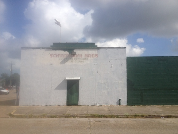 Its old sign painted over and barely visible above a side entrance, the once mighty Schwegmann's stands on St. Claude at Elysian Fields, a block now scheduled for renovation by a new supermarket chain.