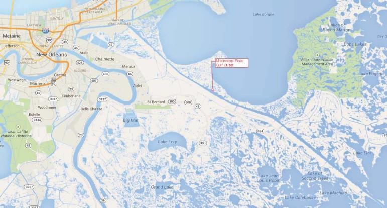 MRGO map