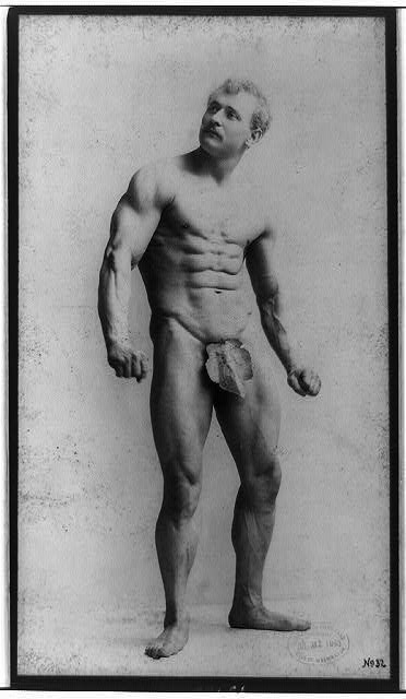The fig leaf has long provided cultural censors with a handy tool, as in this late-Victorian portrait of body-builder Eugen Sandow, by photographer Napoleon Sarony.