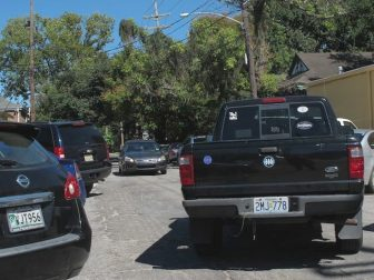 Parking along Maple Street: already chaotic, likely to get worse.