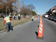 Construction crews have begun work on a section of the Rampart streetcar line along the French Quarter's northern boundary.