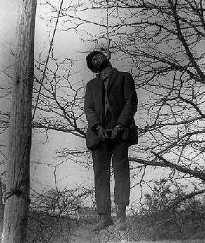 Lynching, this one in Rosewood, Fl., in 1923, remained an extra-judicial reality in the United States until after the mid-20h Century.