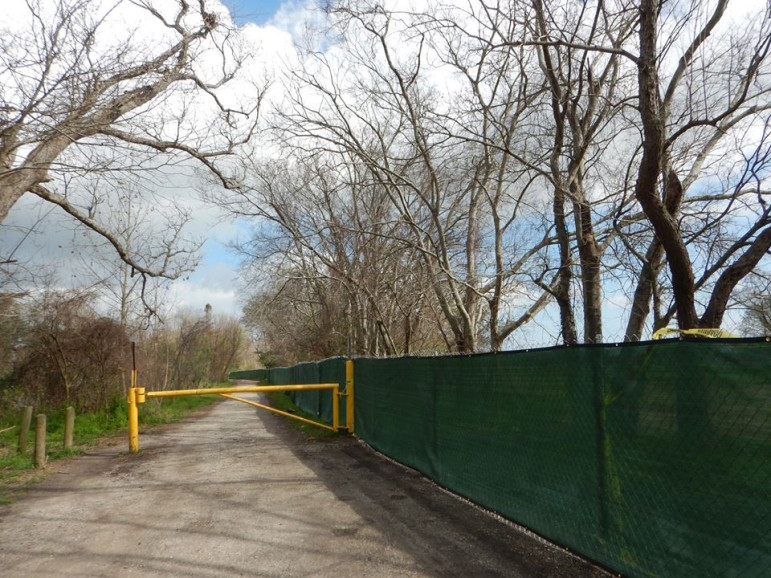 Users of an overgrown part of City Park were stunned to find a fence built around a portion that park officials plan to use for a new golf course.