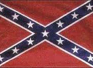 """Confederate flag, a.k.a. """"the stars and bars""""  ."""