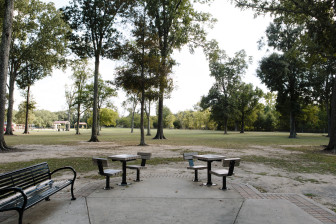 In November 1963, Deputy Charles Hurt was killed here, in Anna T. Jordan Park, as he walked through tall grass trying to flush out truants. Henry Montgomery, then 17, was convicted of the murder.