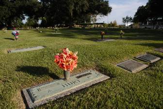 "Deputy Charles Hurt, the father of three young children, was buried in this plot in 1963, in Resthaven Gardens of Memory. His daughter Becky Wilson, who was 9 when her father was killed by Henry Montgomery, filed a petition with the U.S. Supreme Court recounting how her family suffered as a result. She had a baby in high school that she gave up for adoption; her brother and sister dropped out of school. ""Charles Hurt did not get the chance to be a father to a family that needed him,"" she wrote."