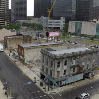 The three buildings that still stand in the 400 block of South Rampart Street are arguably the most important landmarks in the history of America's most distinctive musical idiom: jazz. The former Eagle Saloon is the building in the foreground.