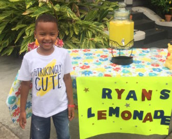 The author's son Ryan, candidate for admission to kindergarten at Lusher Charter School.