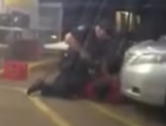 Baton Rouge police pump bullets into Alton Sterling after pinning him to the ground.